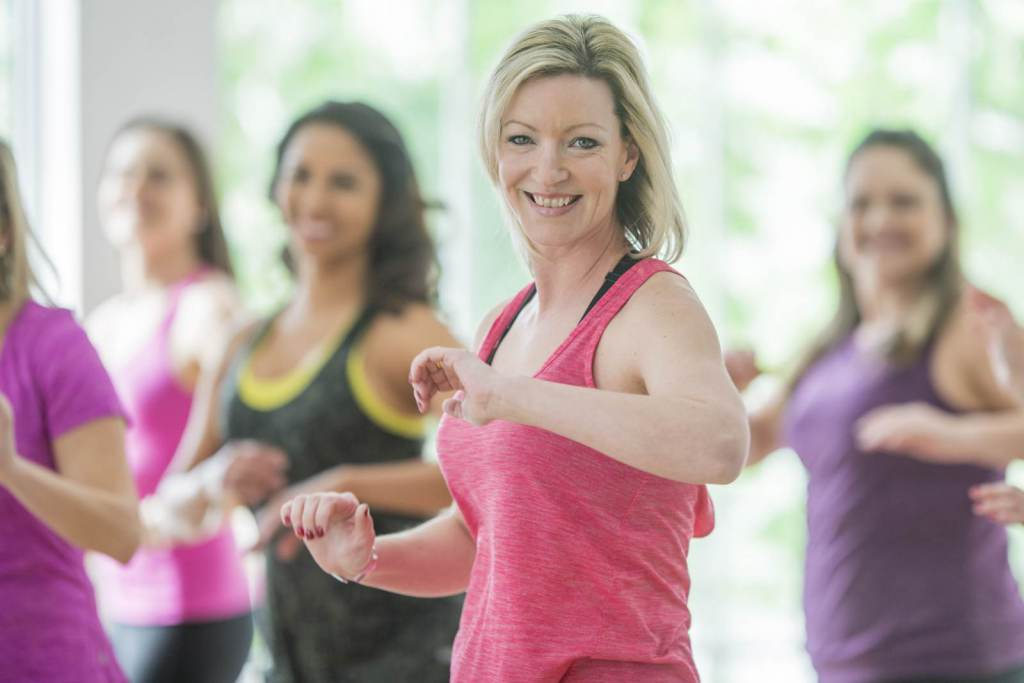Image of women in exercise class